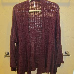 Free People Crocheted Cardigan Size XS